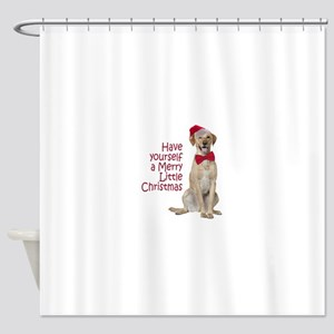 Santa Lab Shower Curtain
