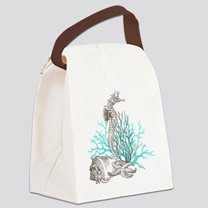 Aqua Under the Sea Canvas Lunch Bag