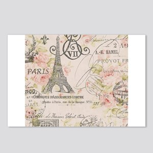 modern vintage floral paris fashion art Postcards