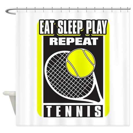 Eat Sleep Play Repeat Tennis Shower Curtain