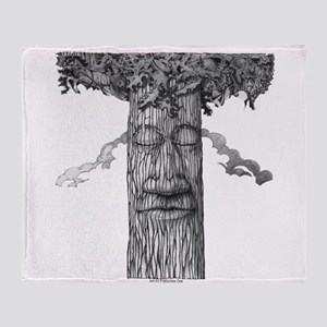 A Mighty Tree Cover B&W Throw Blanket