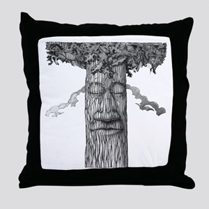 A Mighty Tree Cover B&W Throw Pillow