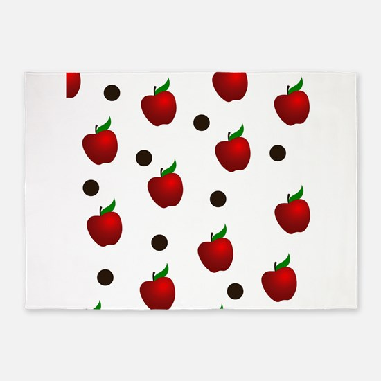 Apple rain pattern 5'x7'Area Rug