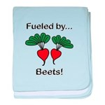 Fueled by Beets baby blanket