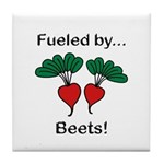 Fueled by Beets Tile Coaster