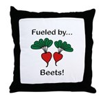 Fueled by Beets Throw Pillow