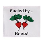Fueled by Beets Throw Blanket