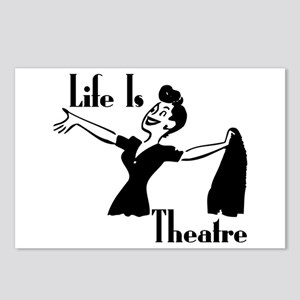 Life Is Theatre Retro Theater Postcards (Package o