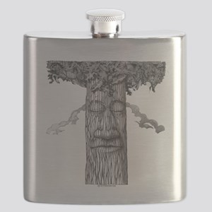 A Mighty Tree Cover B&W Flask