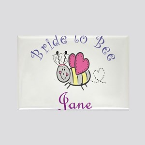 Jane Bride to Bee Rectangle Magnet