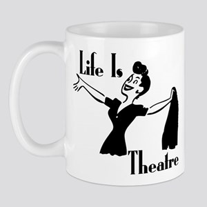 Life Is Theatre Retro Theater Mug