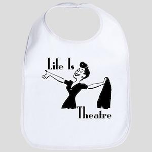 Life Is Theatre Retro Theater Bib
