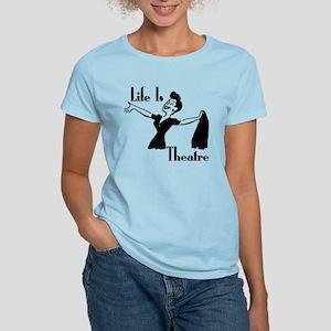 Life Is Theatre Retro Theater Women's Light T-Shir
