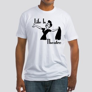 Life Is Theatre Retro Theater Fitted T-Shirt
