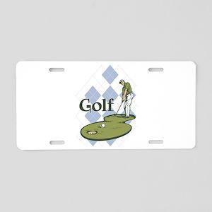 Classic Golf Aluminum License Plate