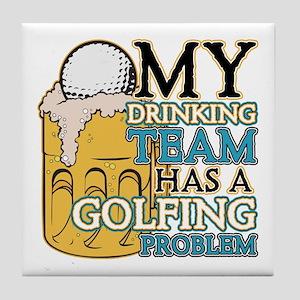 Golf Drinking Team Tile Coaster