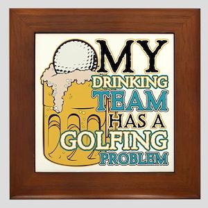 Golf Drinking Team Framed Tile