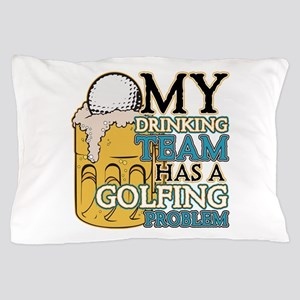 Golf Drinking Team Pillow Case