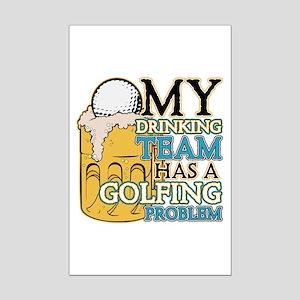 Golf Drinking Team Mini Poster Print