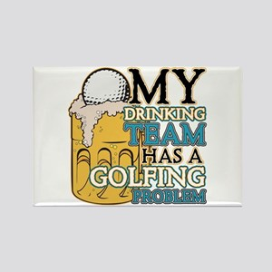 Golf Drinking Team Rectangle Magnet