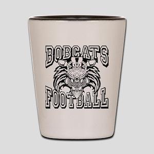 Bobcats Football Shot Glass