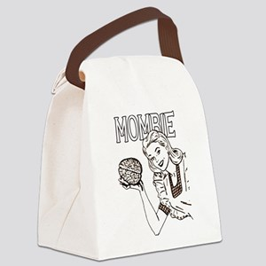 Mombie Retro Zombie Clr Canvas Lunch Bag
