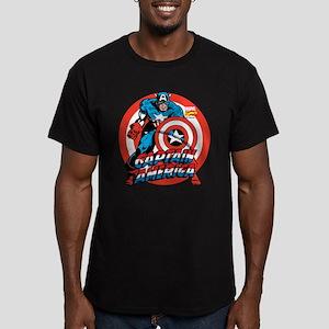 Captain America Men's Fitted T-Shirt (dark)