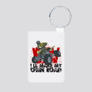 ATV My Own Road Aluminum Photo Keychain