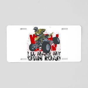ATV My Own Road Aluminum License Plate