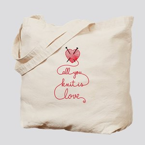 All you knit is love Tote Bag