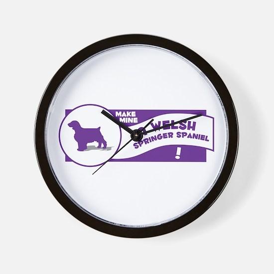 Make Mine Welshie Wall Clock