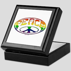 Gay Peace symbol Keepsake Box