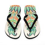 Tribal Feathers Flip Flops
