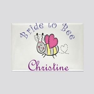 Christine Bride to Bee Rectangle Magnet