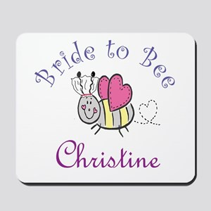 Christine Bride to Bee Mousepad