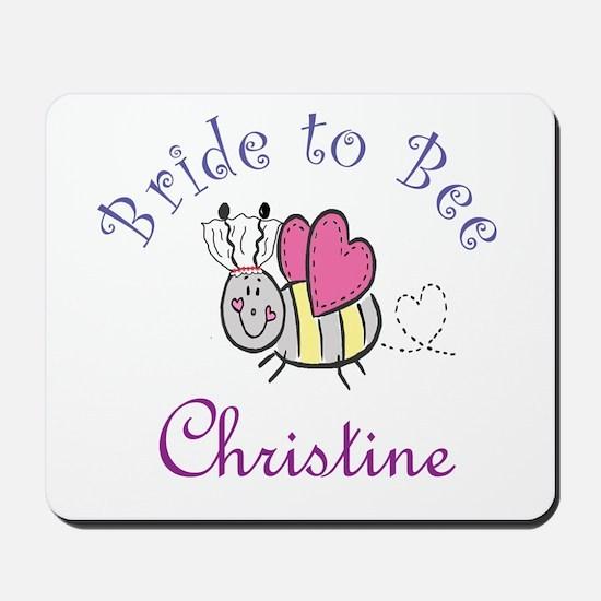 Christine Bride to Bee Mousepad