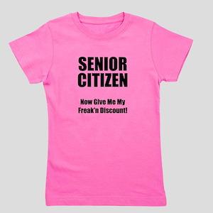 Senior Citizen Black Girl's Tee
