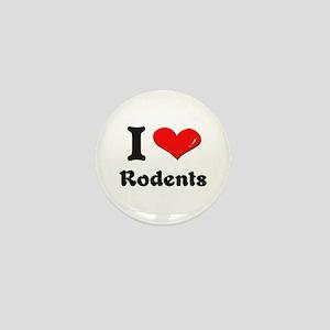 I love rodents Mini Button