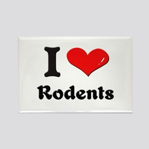I love rodents Rectangle Magnet