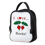 I Love Beets Neoprene Lunch Bag