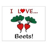 I Love Beets Small Poster