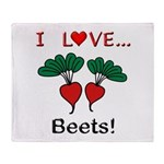 I Love Beets Throw Blanket