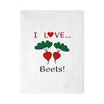 I Love Beets Twin Duvet