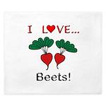 I Love Beets King Duvet