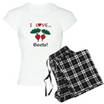 I Love Beets Women's Light Pajamas