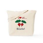 I Love Beets Tote Bag