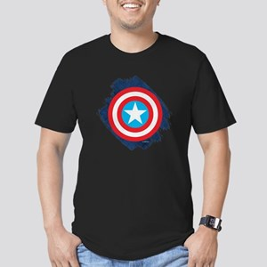 Captain America Distre Men's Fitted T-Shirt (dark)