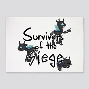 Survivors of the Siege (logo) 5'x7'Area Rug