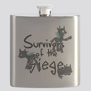 Survivors of the Siege (logo) Flask