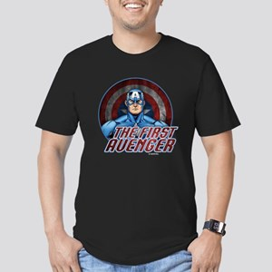 Captain America: The F Men's Fitted T-Shirt (dark)
